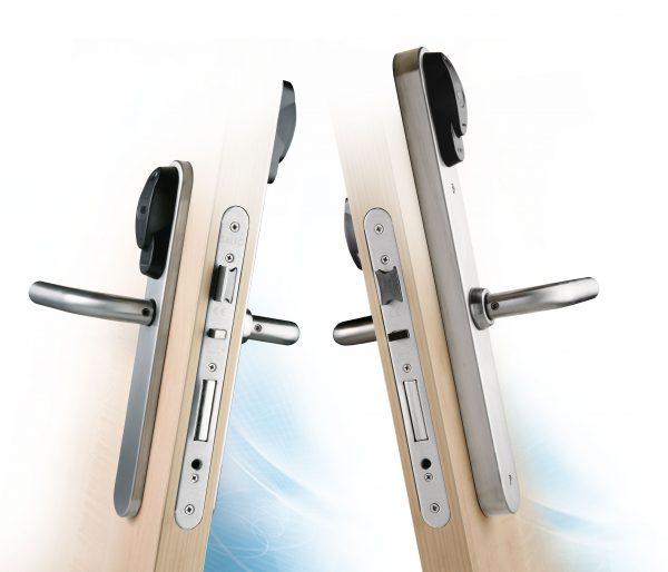 SALTO XS4 Original Smal Beslag Dubbele Leeskop op deur
