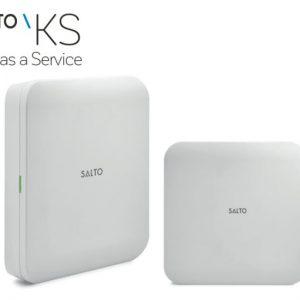 SALTO KS IQ Ethernet zijaanzicht en schuin vooraanzicht