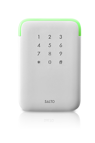SALTO XS4 2.0 ANSI Design Wandlezer Proximity BLE DESfire-Mifare Wit met code paneel.
